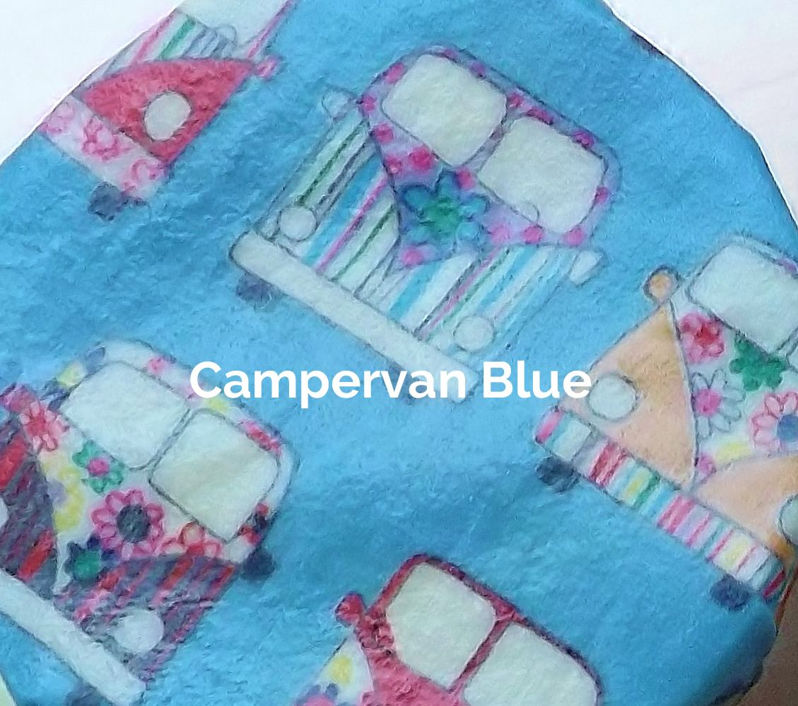 Campervan Blue fabric of a V-Eco Food Wrap