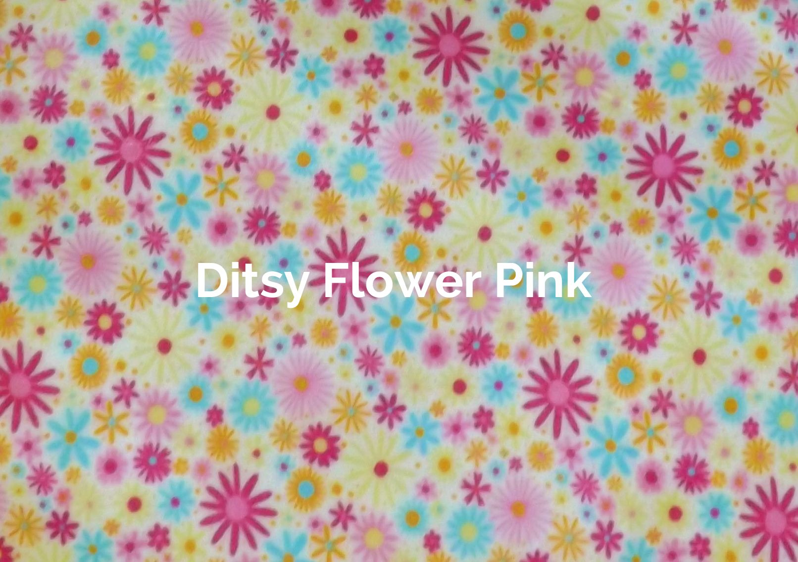 Ditsy Flower Pink fabric of a V-Eco Food Wrap