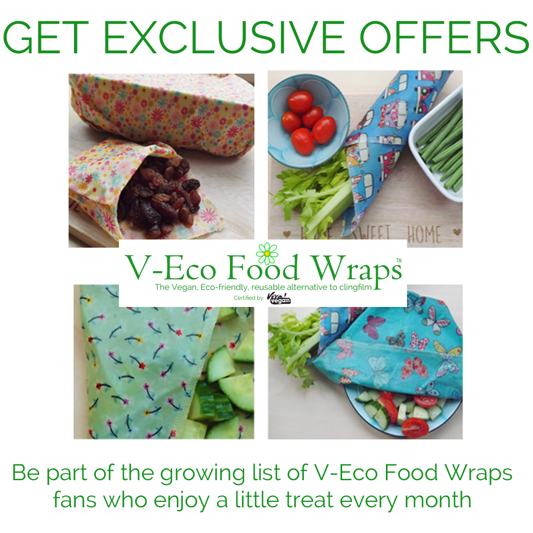 "Image of four food wraps with wording ""Get Exclusive Offers"""