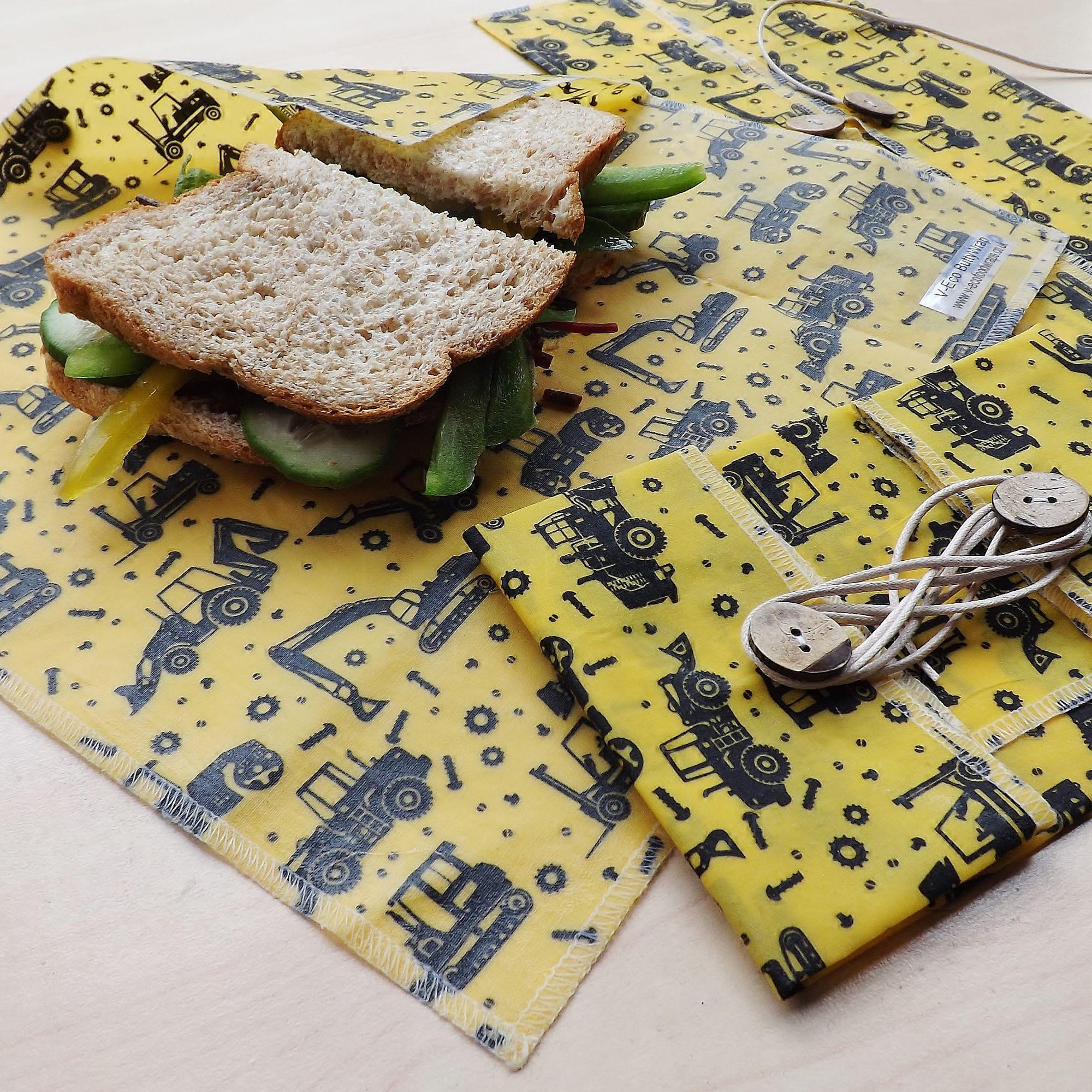 "V-Eco Food Wrapsâ""¢,  ButtyWrapâ""¢ in truck waxed fabric"