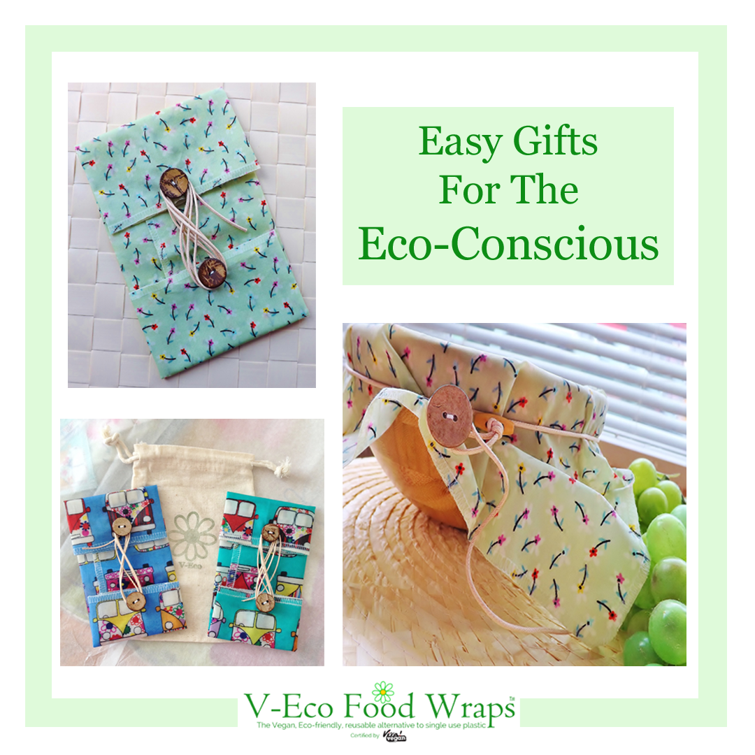"Image of V-Eco Food Wraps with caption, ""Easy Gifts For The Eco-Conscious"""