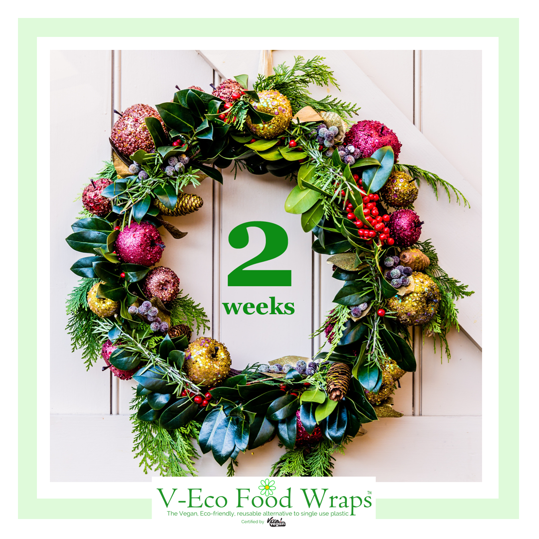 image of xmas wreath showing 5 weekd to go until xmas
