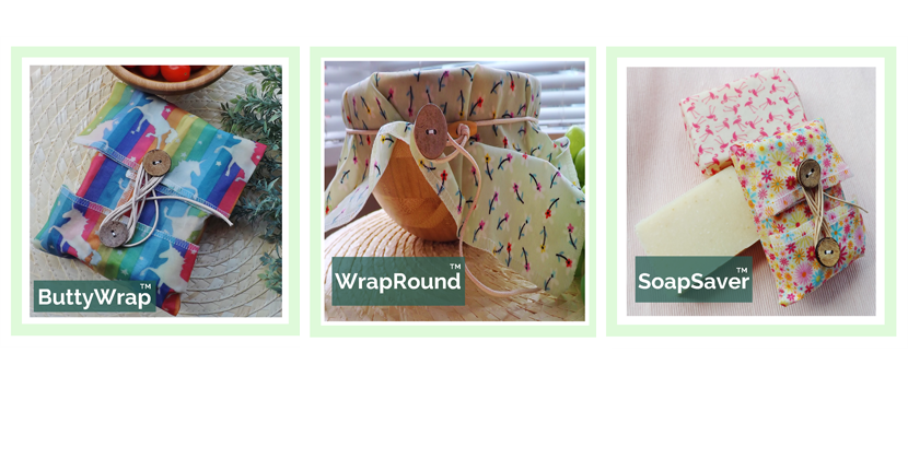 image of ButtyWrap, WrapRound and SoapSaver from V-Eco Food Wraps