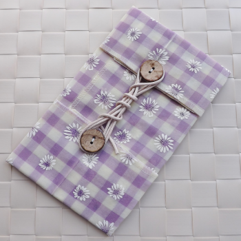 Lilac Gingham Daisy ButtyWrap