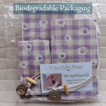 Lilac Gingham Daisy WrapRound