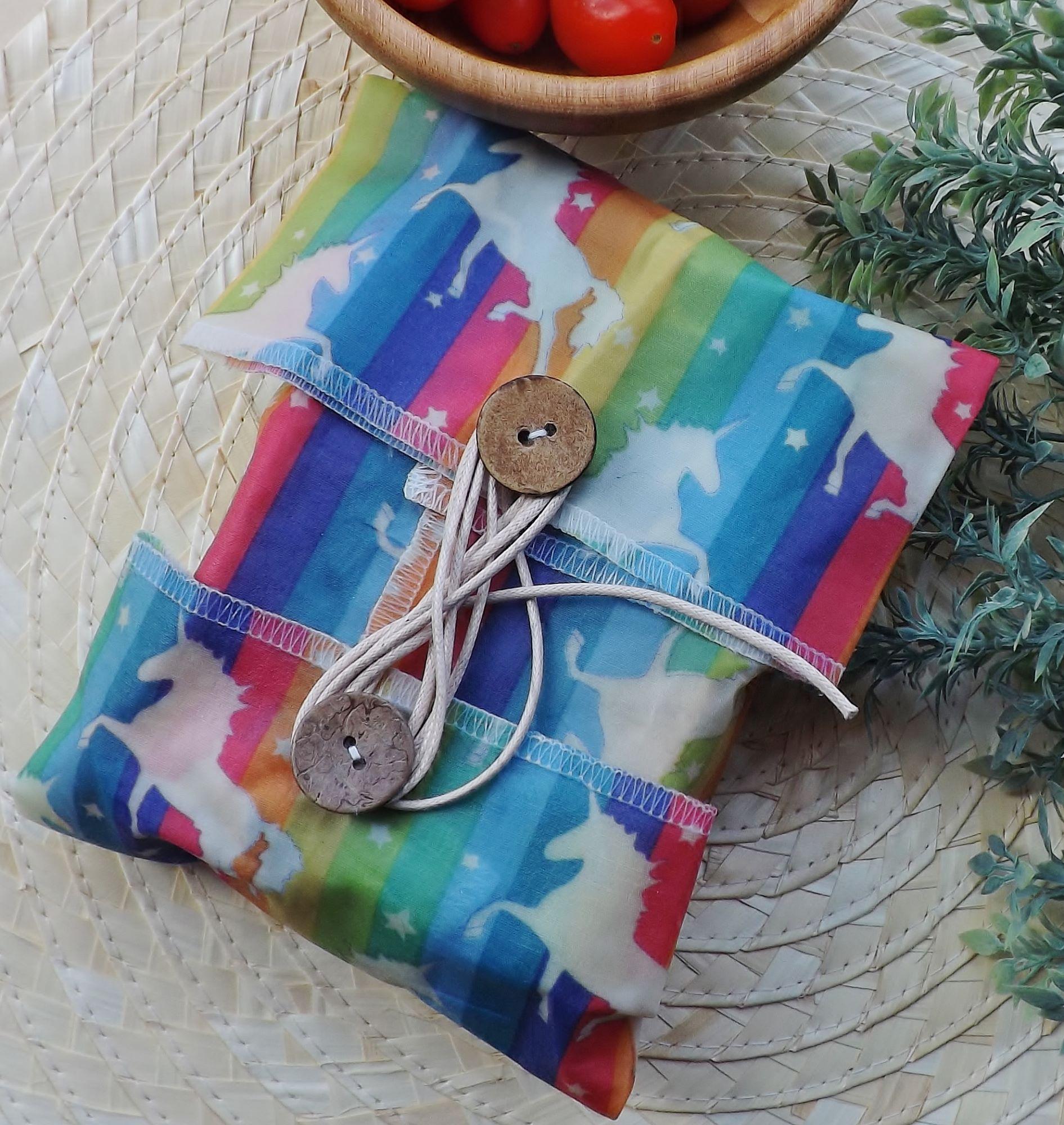 V-Eco Food Wraps,  Windround - waxed food wrap in unicorn design