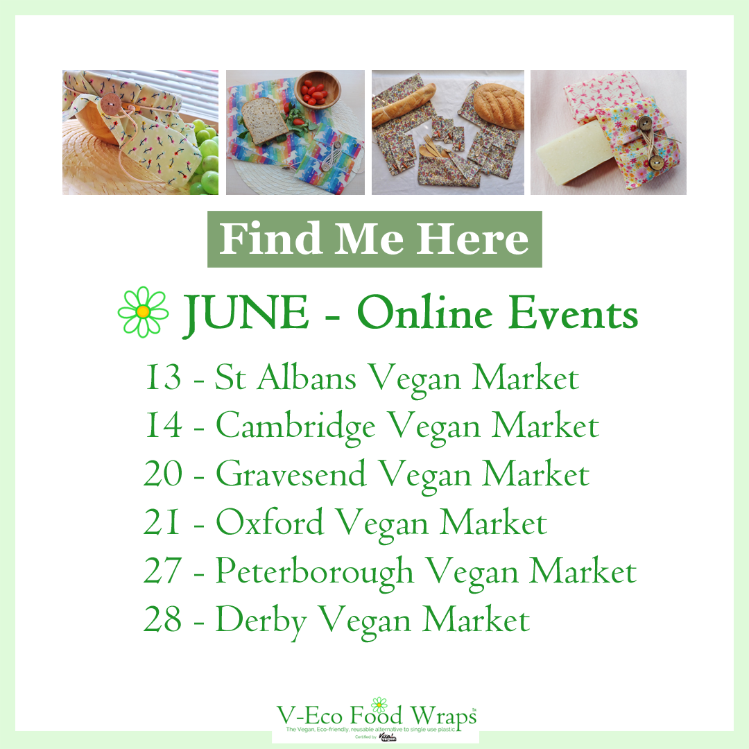 List of online events and markets V-Eco Food Wraps will attend in June 2020