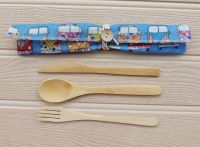CutleryCaddy™  - 1 place setting -  Campervan Blue Fabric