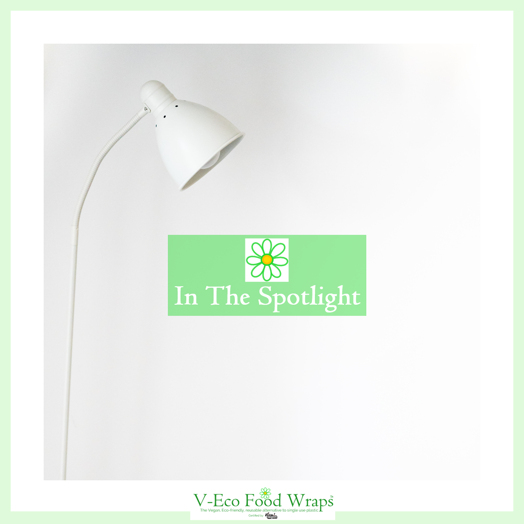 "A white spotlight over the words ""In the spotlight"""