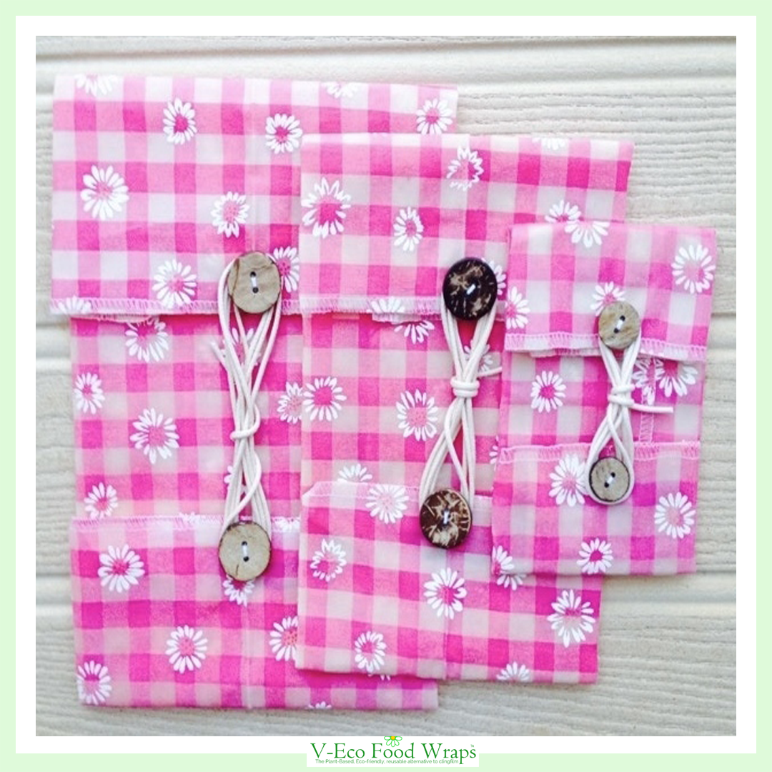 Pink Daisy Gingham - WindRound™