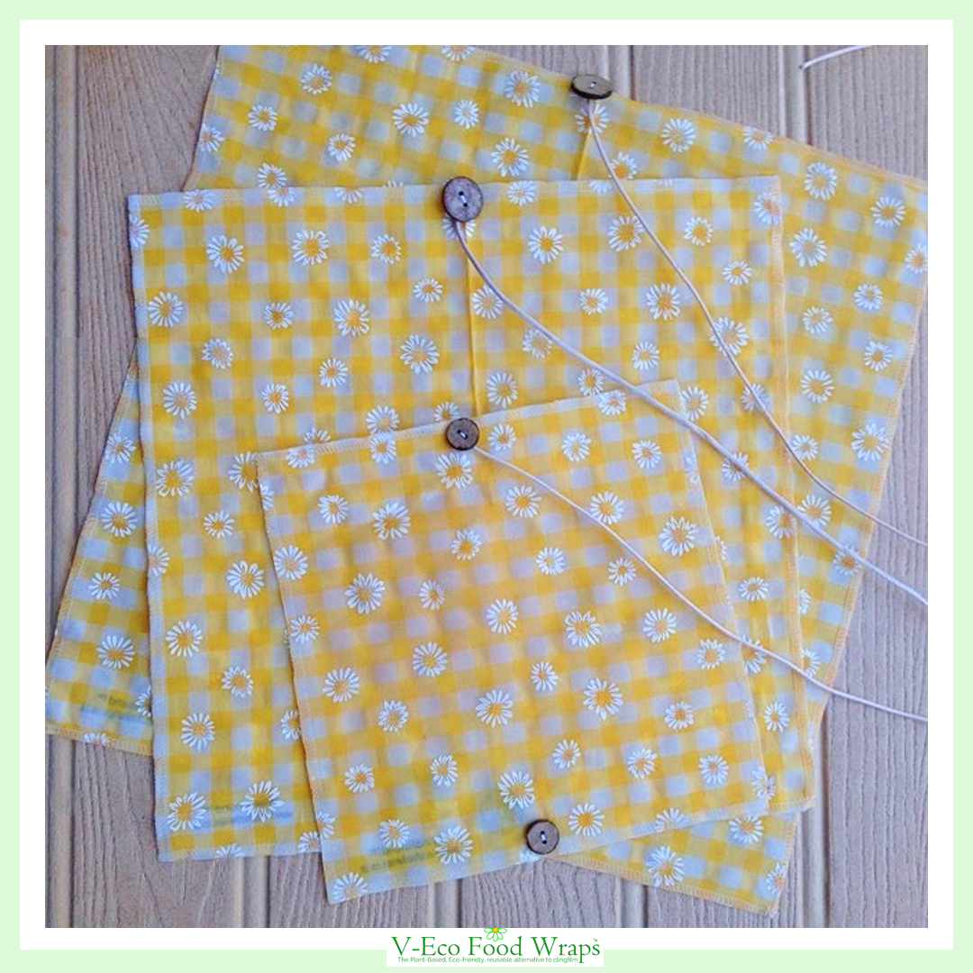 Yellow Daisy Gingham - WindRound™