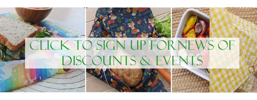 sign up for news of discounts and events IN white copy