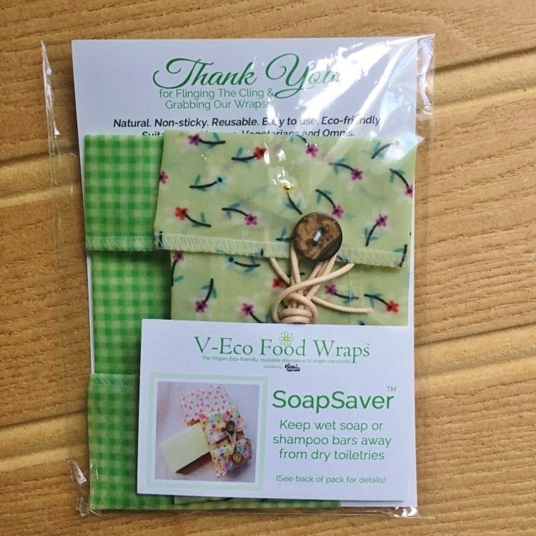 SoapSaver - Daisies green & Green Gingham