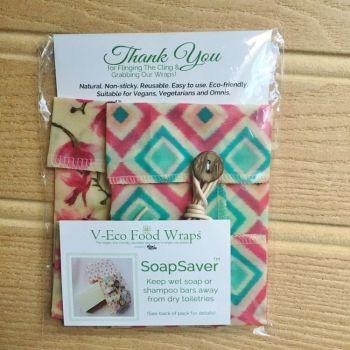 SoapSaver™ - Geometric Aqua & Magnolia Blossom