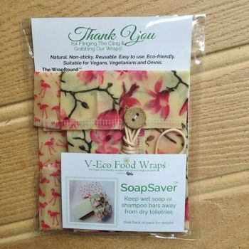 SoapSaver™ - Magnolia Blossom & Flamingos