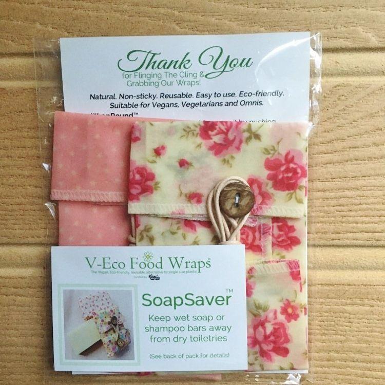 SoapSaver™ - Vintage Floral Pink & Pink Dots