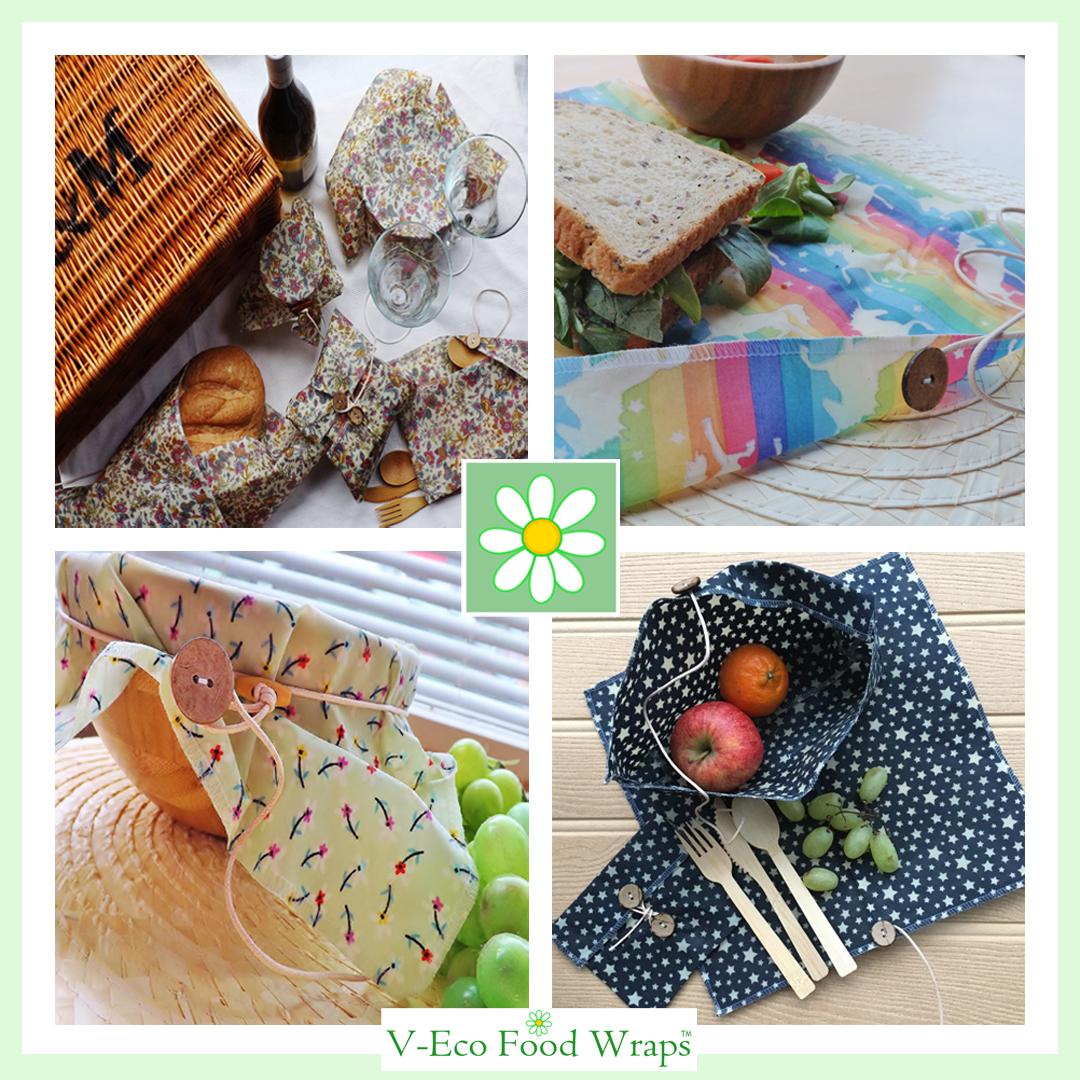 V-Eco Food Wraps, quartet of wraps