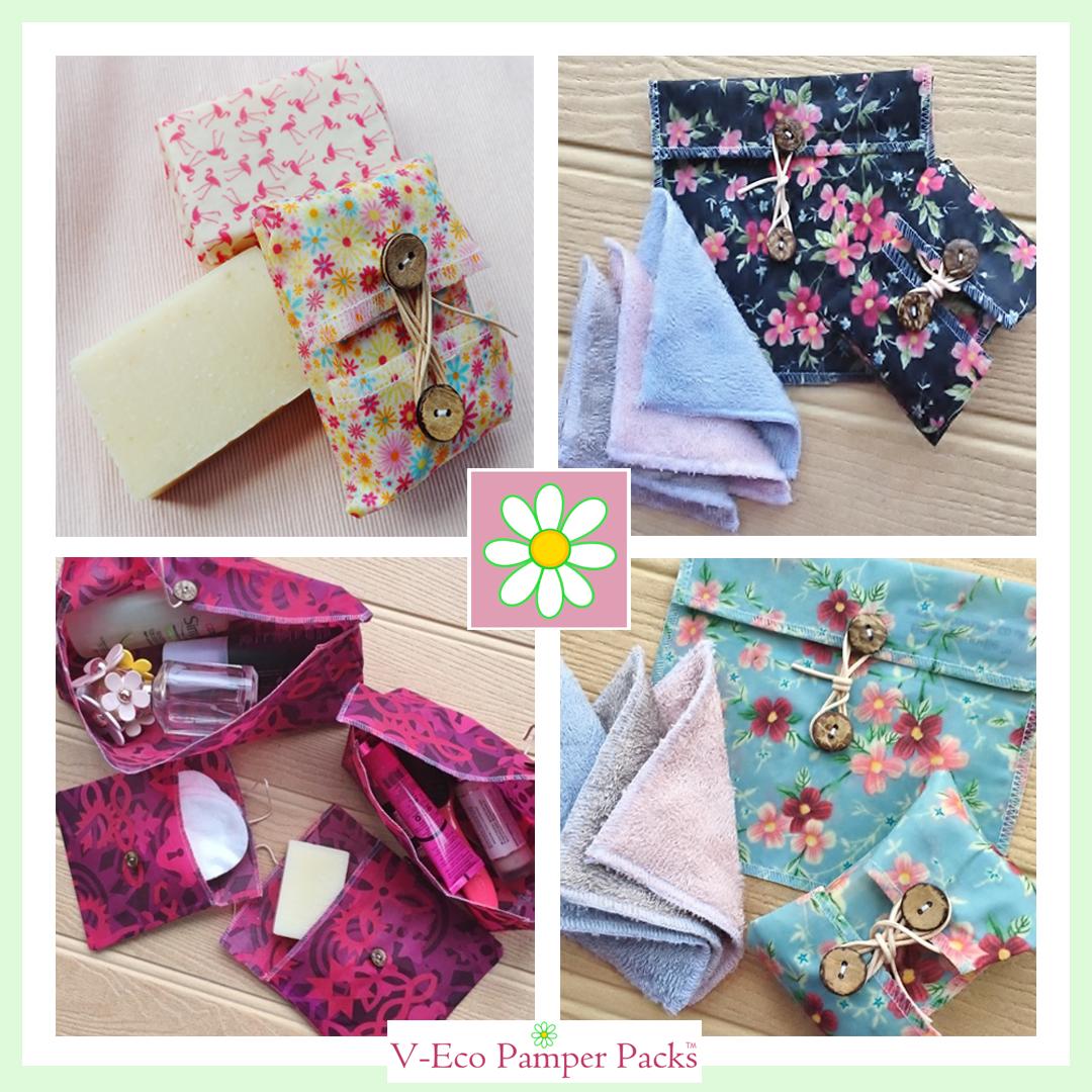 V-Eco Pamper Packs,  a quarter of wraps and pouches