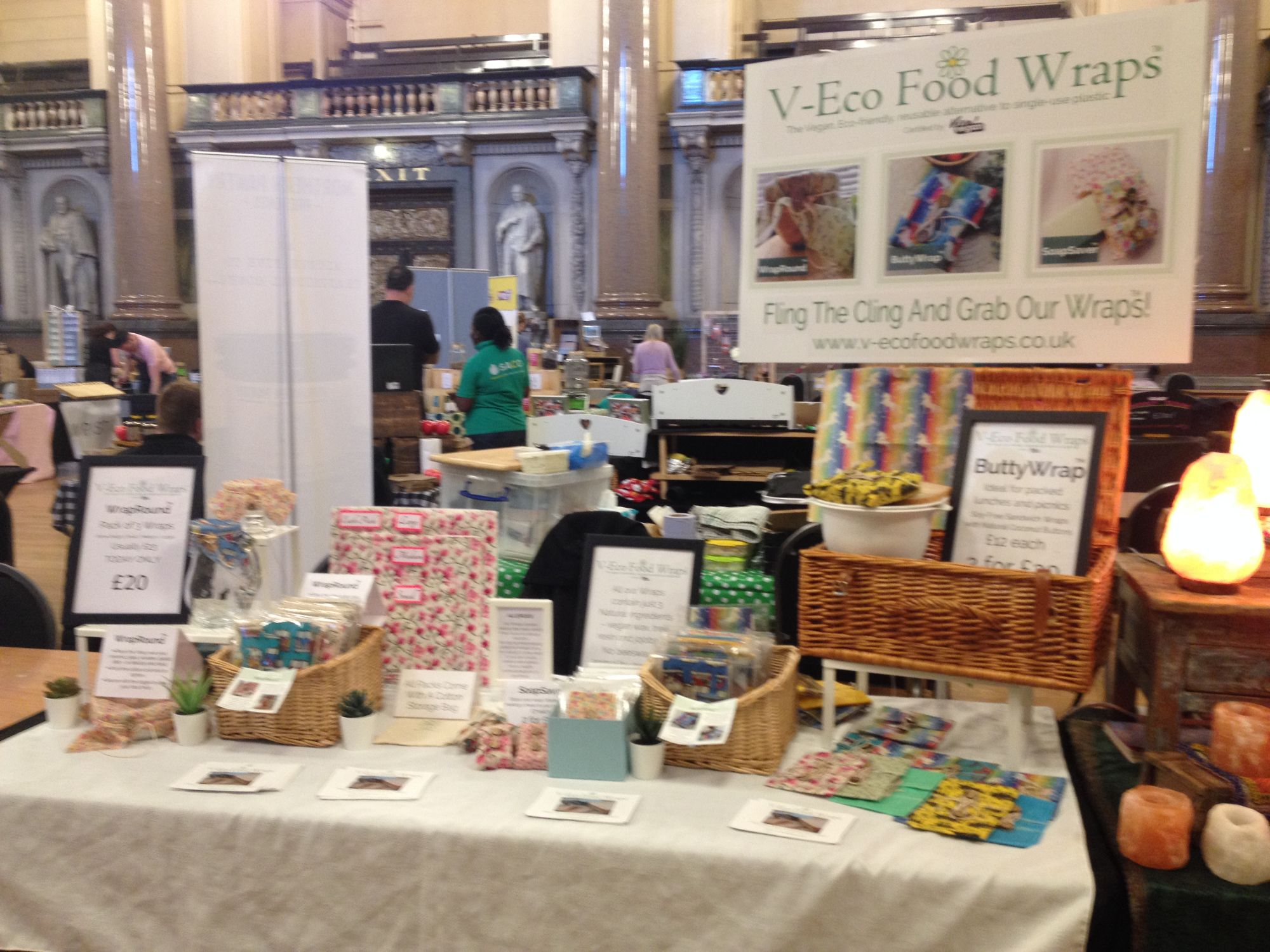 V-Eco Food Wraps at St George's Hall in Liverpool