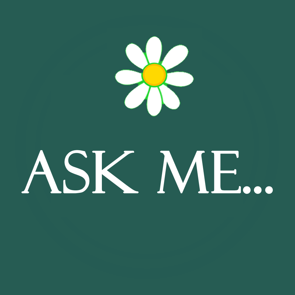 V-Eco Home, daisy logo with the words Ask Me