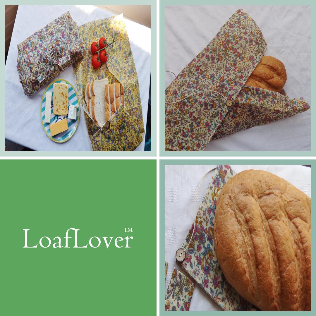 """V-Eco Food Wrapsâ""""¢,  quartet of images showing LoafLoverâ""""¢"""