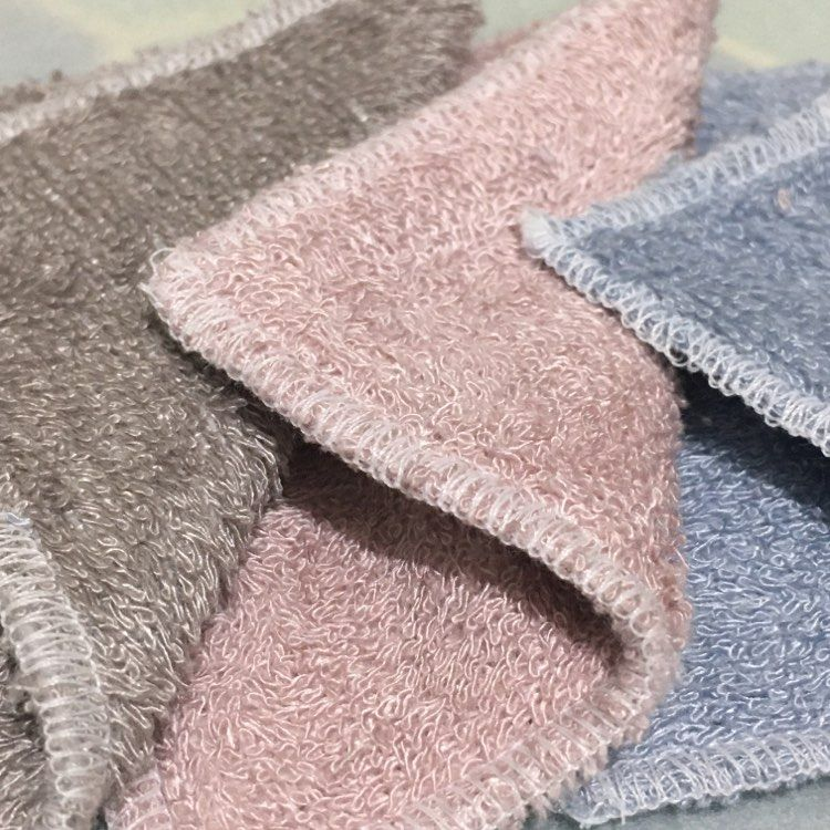 V-Eco Pamper Packs, three super soft, sustainable and double-sided bamboo face wipes in pink, blue and grey