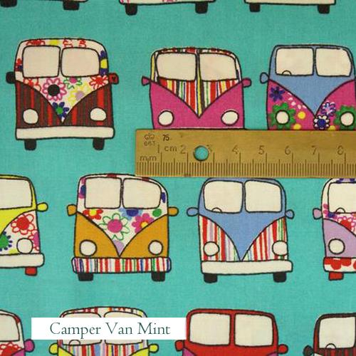 V-Eco Food Wraps, Campervan Mint fabric