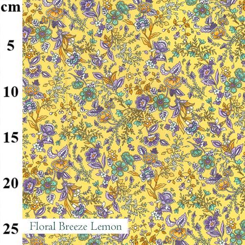 V-Eco Food Wraps, Floral Breeze Lemon fabric