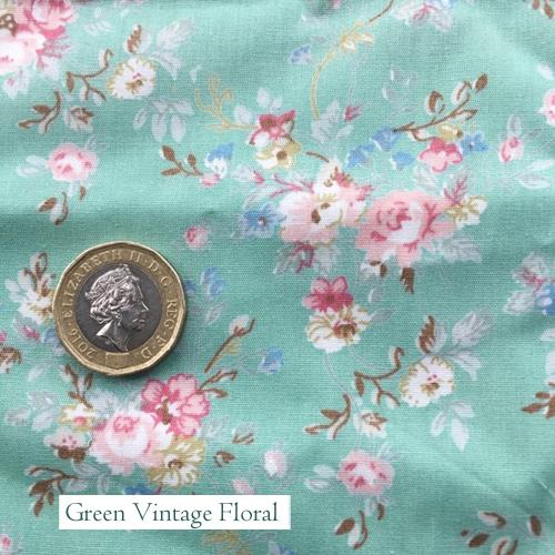 """V-Eco Pamper Packsâ""""¢, Floral green vintage fabric"""