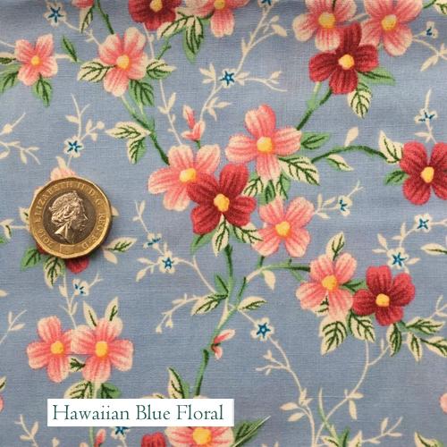 "V-Eco Pamper Packsâ""¢, Hawaiian Blue Floral fabric"