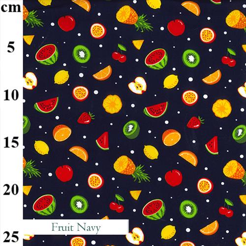V-Eco Food Wraps, Fruit Navy fabric