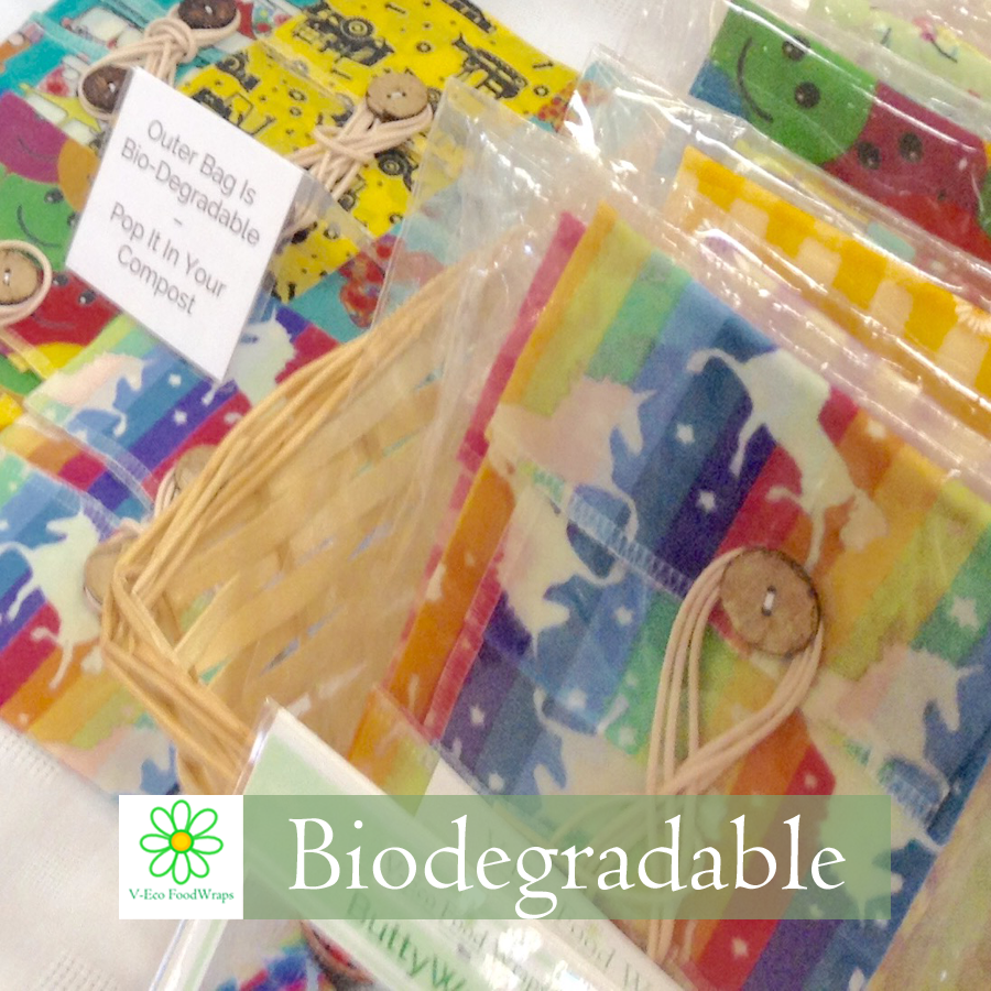 #Biodegradable selection of V-Eco Home wraps in clear biodegradable bags