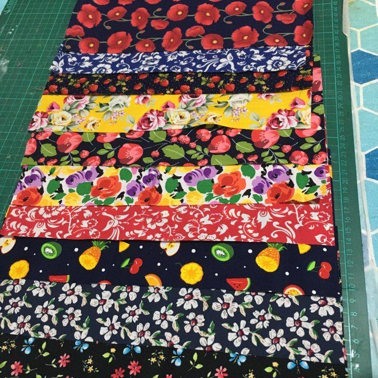 Variety of vibrant fabric designs