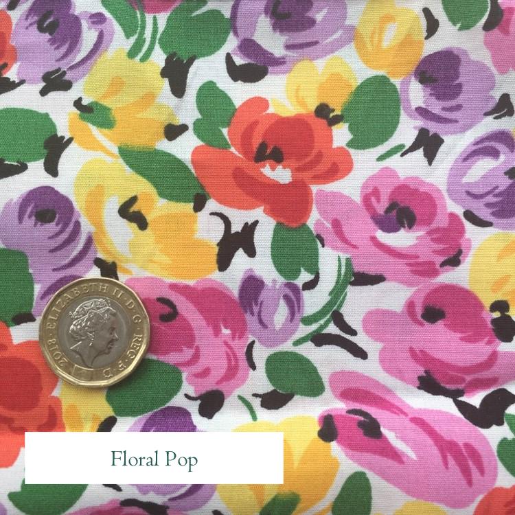 V-Eco Food Wraps, Floral Pop fabric