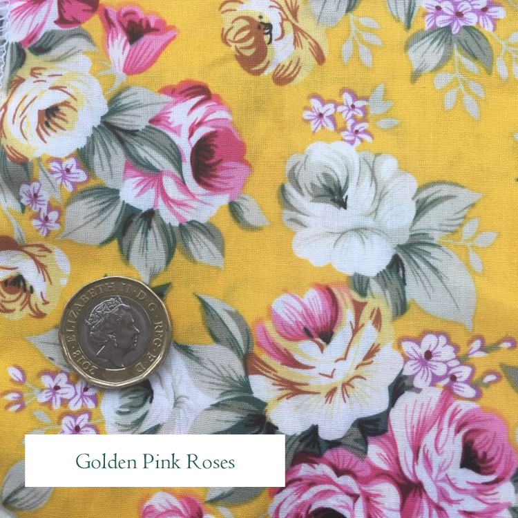 V-Eco Food Wraps, Golden Pink Roses fabric