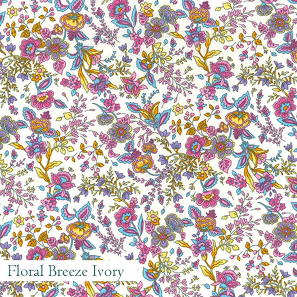 Floral Breeze Ivory Fabric, V-Eco Home