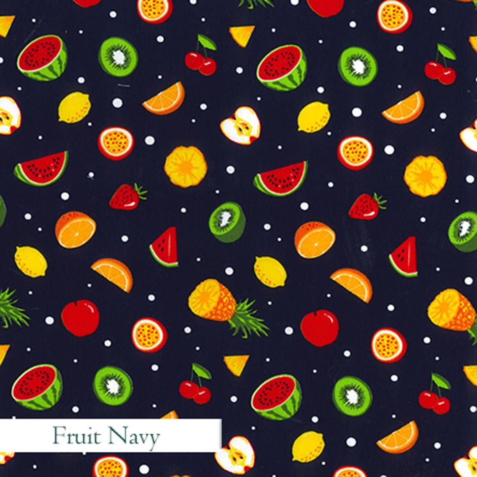 Fruit Navy Fabric, V-Eco Home