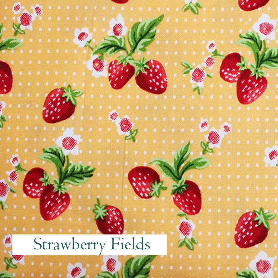 Strawberry Fields Fabric, V-Eco Home