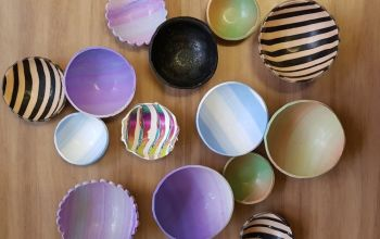 05 Feb 2020 Live Online Clay along - Trinket bowls - 10am to 1130 SESSION ONLY KIT
