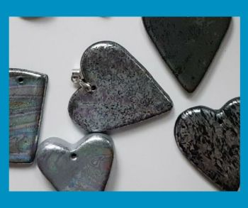 Silver Foil Polymer Clay Jewellery Project for Adults