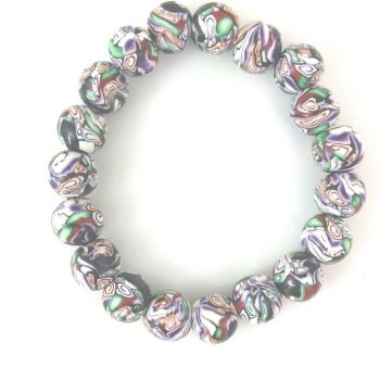 7 Purple Kaleidoscope bracelet
