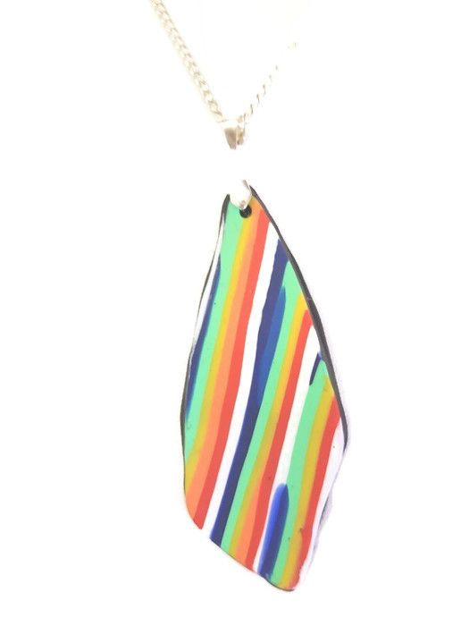 Snazzy Striped Pendant