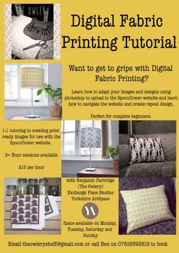 Digital Fabric Printing Tutorial Flyer NEW