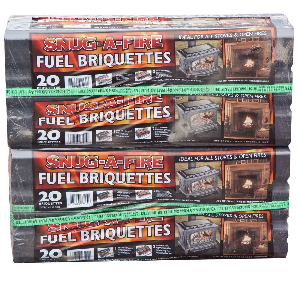 2 x 12.5kg packs of Peat Briquettes in one box
