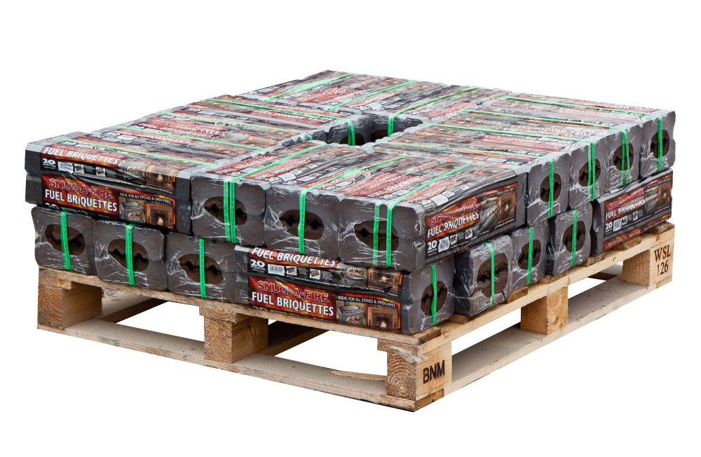 28 x 12.5kg packs of Peat Briquettes (Part pallet)