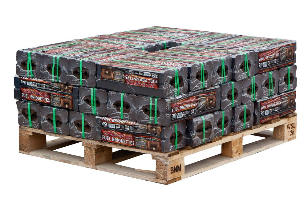 42 x 12.5kg packs of Peat Briquettes (Half Pallet)