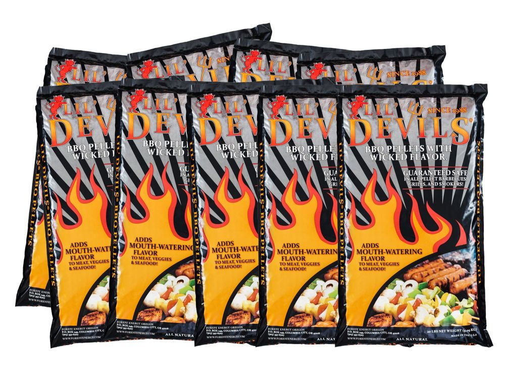 15x 9kg bags of Lil Devils Smoking BBQ Wood Pellets