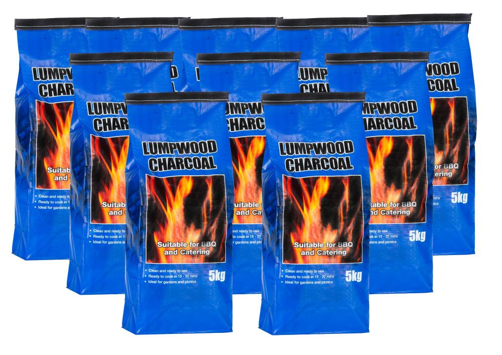 10x 5kg bags of Lumpwood Charcoal - Price Includes VAT & Delivery*