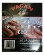 Instant Disposable Picnic Barbecue