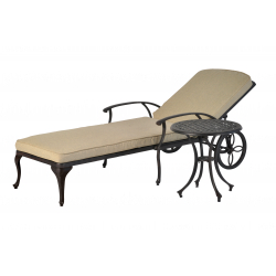 Luxury Sun Lounger And Side Table